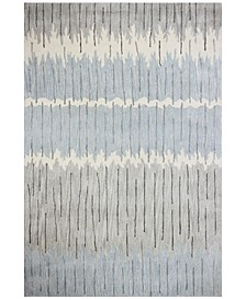 """Downtown HG369 Gray/Blue 5'6"""" x 8'6"""" Area Rug"""