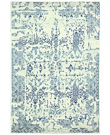 "Medley 748 Ivory/Blue 7'6"" x 9'6"" Area Rug"