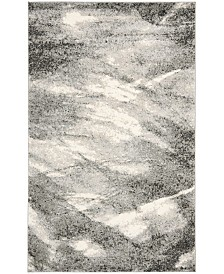 "Safavieh Retro Gray and Ivory 8'9"" x 12' Area Rug"