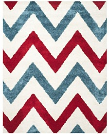 Safavieh Shag Kids Ivory and Red 8' x 10' Area Rug