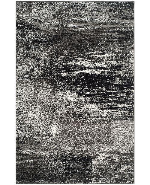 Safavieh Adirondack Silver and Black 4' x 6' Area Rug