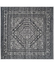 Safavieh Adirondack Silver and Black 4' x 4' Square Area Rug