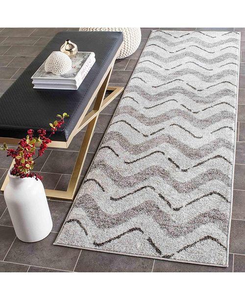 "Safavieh Adirondack Silver and Charcoal 2'6"" x 12' Runner Area Rug"