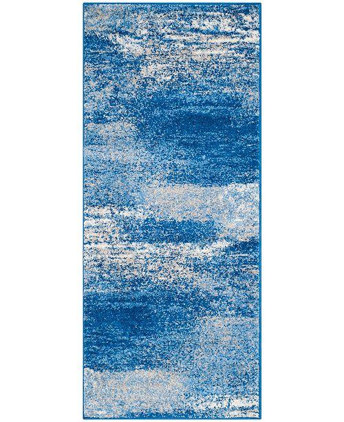 "Safavieh Adirondack Silver and Blue 2'6"" x 12' Runner Area Rug"
