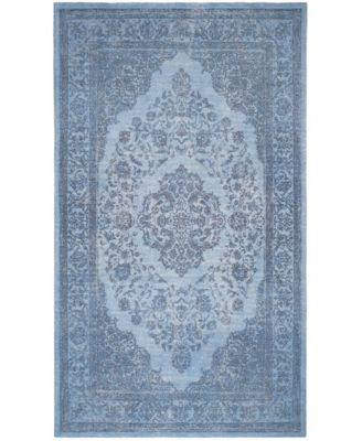 Classic Vintage Blue 6' x 6' Square Area Rug