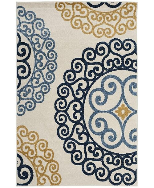Safavieh Amherst Ivory and Gold 5' x 8' Area Rug