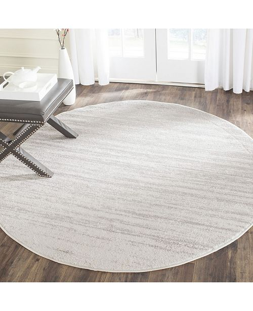 Safavieh Adirondack Ivory and Silver 10' x 10' Round Area Rug