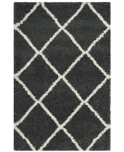 Safavieh Hudson Dark Gray and Ivory 6' x 9' Area Rug