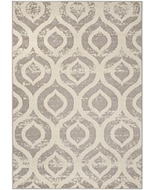 Amsterdam Ivory and Mauve 9' x 12' Area Rug