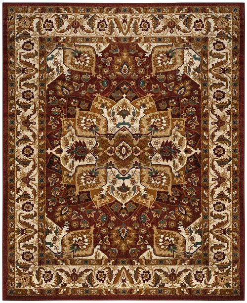 Safavieh Summit Red and Ivory 8' x 10' Area Rug