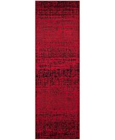 "Safavieh Adirondack Red and Black 2'6"" x 10' Runner Area Rug"