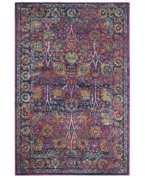 "Safavieh Granada Fuchsia and Multi 6'7"" x 9' Area Rug"