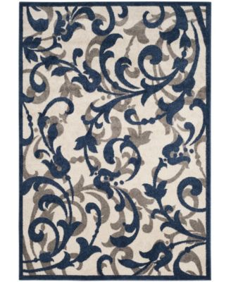 Amherst Ivory and Navy 4' x 6' Area Rug