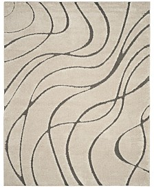 "Safavieh Shag Cream and Gray 8'6"" x 12' Area Rug"