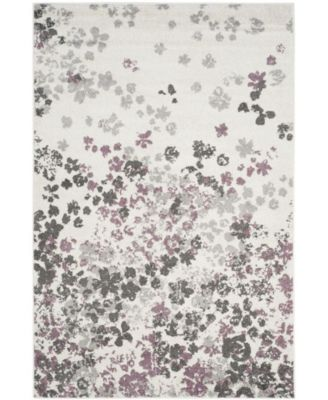Adirondack Ivory and Purple 10' x 14' Area Rug