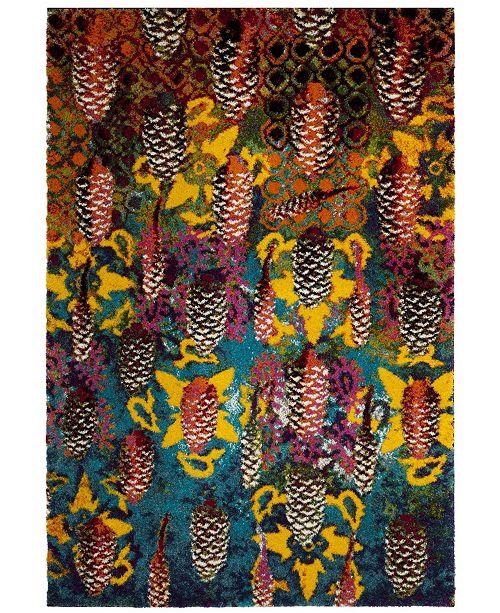 Safavieh Fiesta Turquoise and Multi 4' x 6' Area Rug