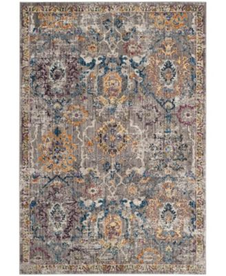 Bristol Gray and Blue 8' x 10' Area Rug