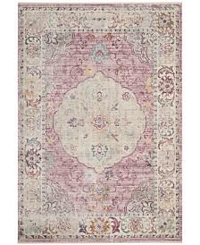 Safavieh Illusion Rose and Cream 4' x 4' Square Area Rug