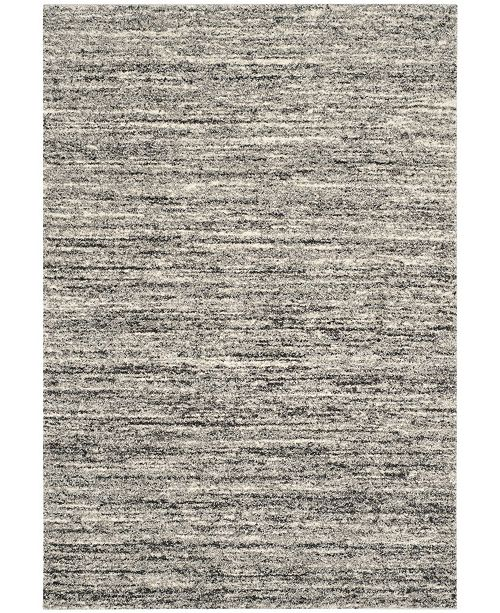 Safavieh Retro Ivory and Gray 6' x 6' Square Area Rug