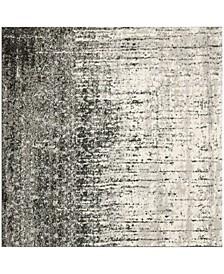 Retro Black and Gray 4' x 4' Square Area Rug