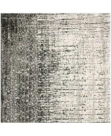 Safavieh Retro Black and Gray 4' x 4' Square Area Rug