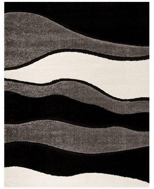 Safavieh Shag Gray and Black 8' x 10' Area Rug