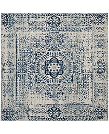 Evoke Ivory and Blue 9' x 9' Square Area Rug