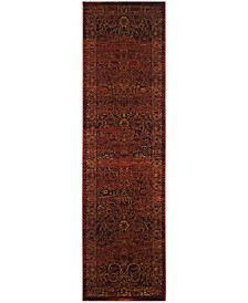 "Safavieh Serenity Ruby and Gold 2'3"" x 12' Runner Area Rug"