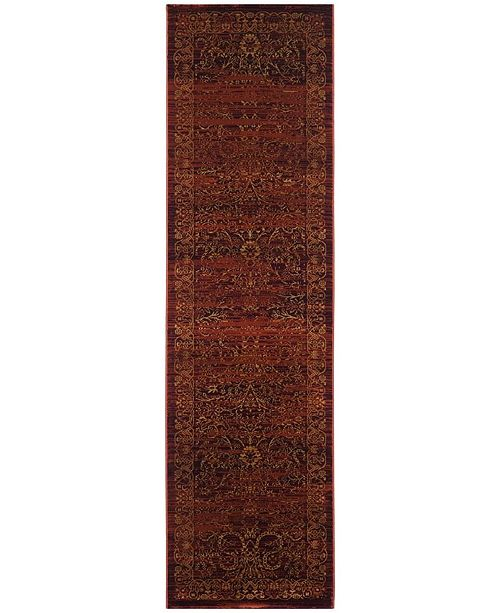 """Safavieh Serenity Ruby and Gold 2'3"""" x 12' Runner Area Rug"""