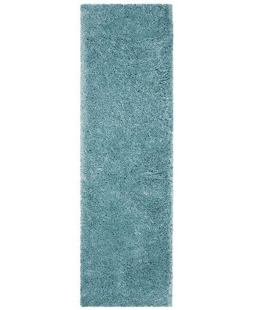 "Safavieh Polar Light Turquoise 2'3"" x 10' Runner Area Rug"