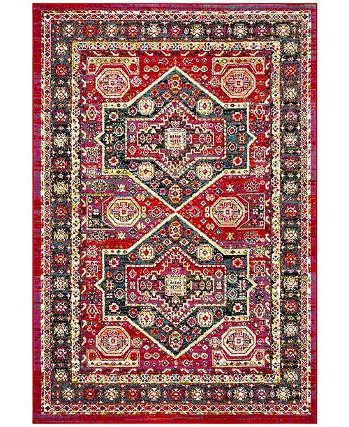 Safavieh Cherokee Red and Blue 4' x 6' Area Rug