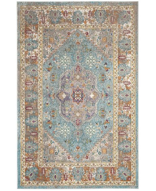 Safavieh Aria Blue and Creme 3' x 5' Area Rug