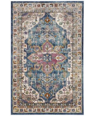Aria Blue and Creme 8' x 10' Area Rug