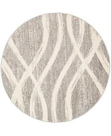 Safavieh Adirondack Gray and Cream 8' x 8' Round Area Rug