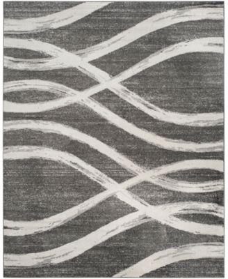 Adirondack Charcoal and Ivory 8' x 10' Area Rug