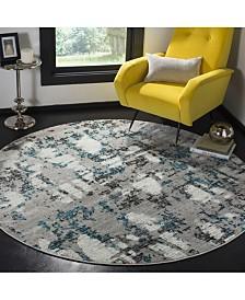 Safavieh Skyler Gray and Blue 8' x 8' Round Area Rug