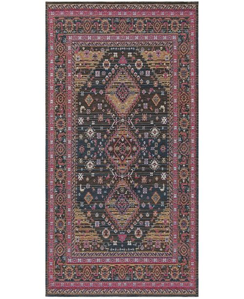 """Safavieh Classic Vintage Navy and Pink 2'3"""" x 8' Runner Area Rug"""