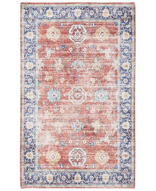 "Safavieh Saffron Rust and Navy 2'3"" x 8' Runner Area Rug"