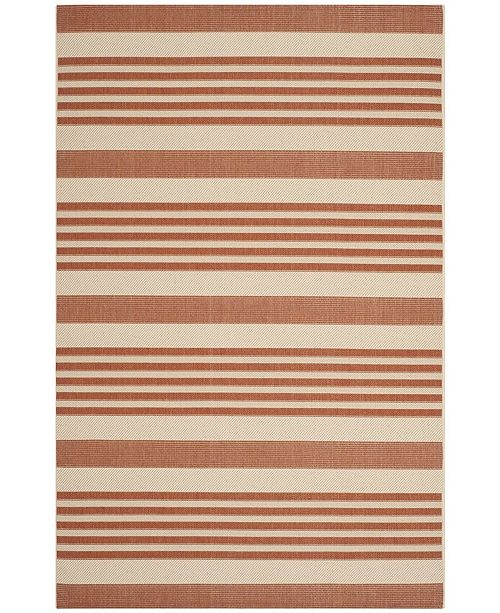 Safavieh Courtyard Terracotta and Beige 9' x 12' Sisal Weave Area Rug