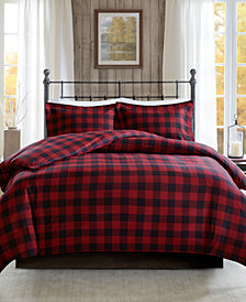 Woolrich Flannel 3-Pc. Check Print Cotton Duvet Cover Set Collection