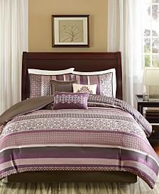 Madison Park Princeton Queen 7 Piece Jacquard Comforter Set