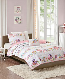 Mi Zone Kids Wise Wendy Full/Queen 4 Piece Printed Coverlet Set