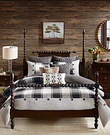 Madison Park Signature Urban Cabin King 9 Piece Cotton Jacquard Comforter Set