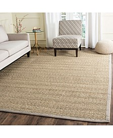 Natural Fiber Natural and Gray 9' x 12' Sisal Weave Area Rug