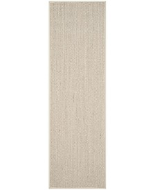 "Safavieh Natural Fiber Marble and Beige 2'6"" x 6' Sisal Weave Runner Area Rug"