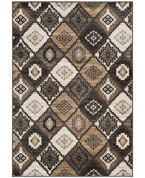 """Safavieh Vintage Black and Ivory 4' x 5'7"""" Area Rug"""