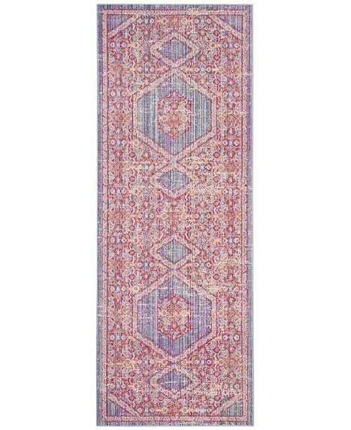 Safavieh Windsor Lavender and Fuchsia 3' x 10' Area Rug