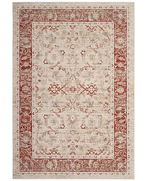 Safavieh Windsor Ivory and Red 4' x 6' Area Rug