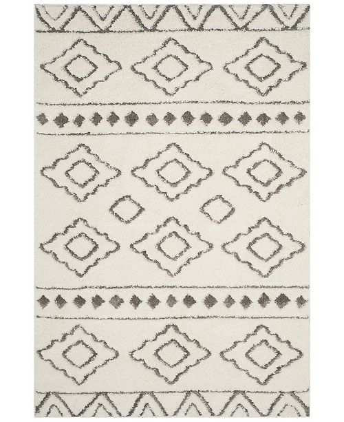 Safavieh Sparta Ivory and Gray 4' x 6' Area Rug