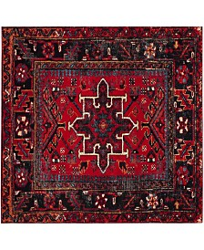 "Safavieh Vintage Hamadan Red and Multi 5'3"" x 5'3"" Square Area Rug"